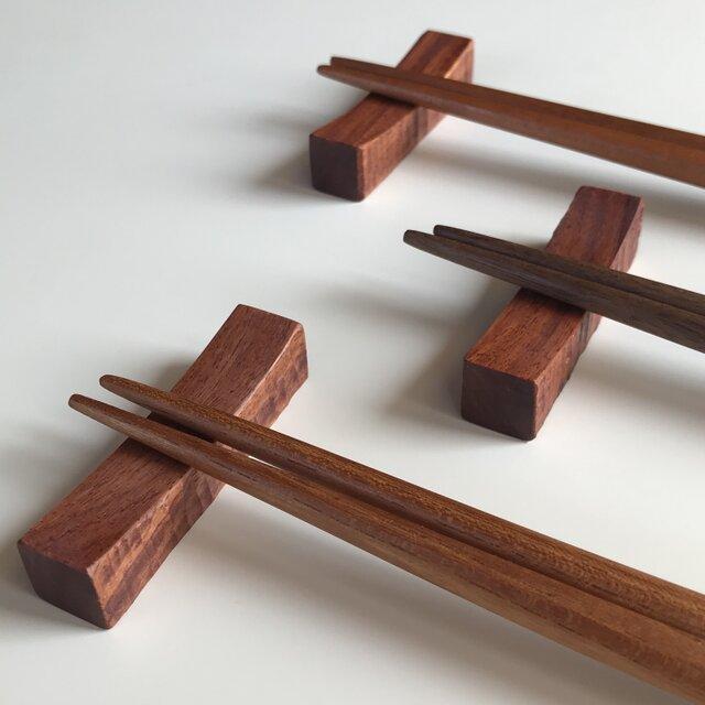受注制作 お箸と箸置きセット 男女兼用の画像1枚目