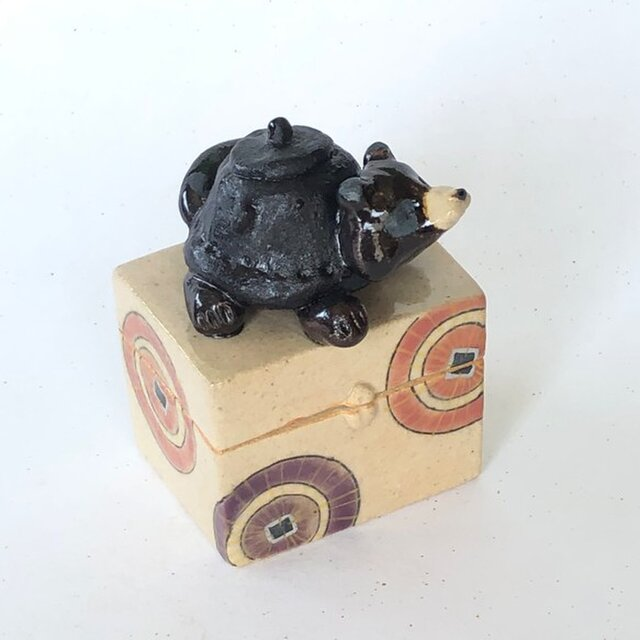 陶ハコ「ぶんぶくちゃがま」の画像1枚目