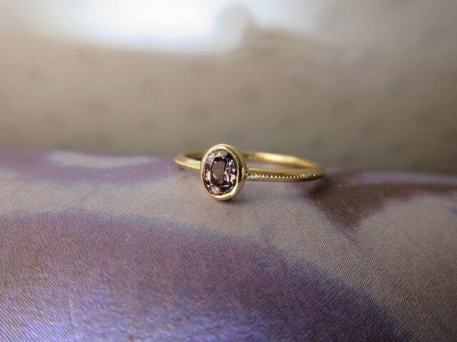 K18 Color Change Garnet Ringの画像1枚目