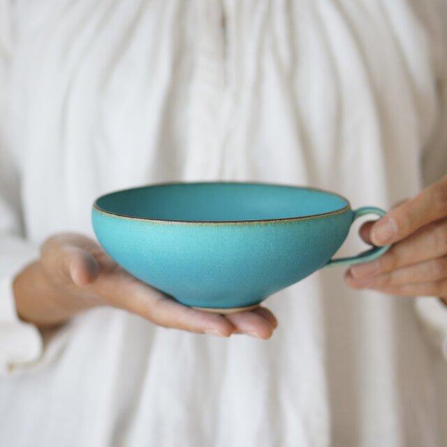 スープカップ・サラダボウル・鉢 (ターコイズブルー/トルコ青)の画像1枚目