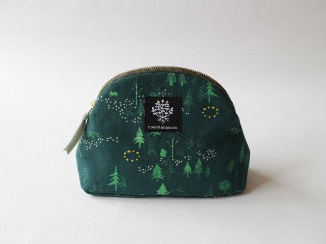 山型ポーチ・おもいでの森 / グリーンの画像1枚目