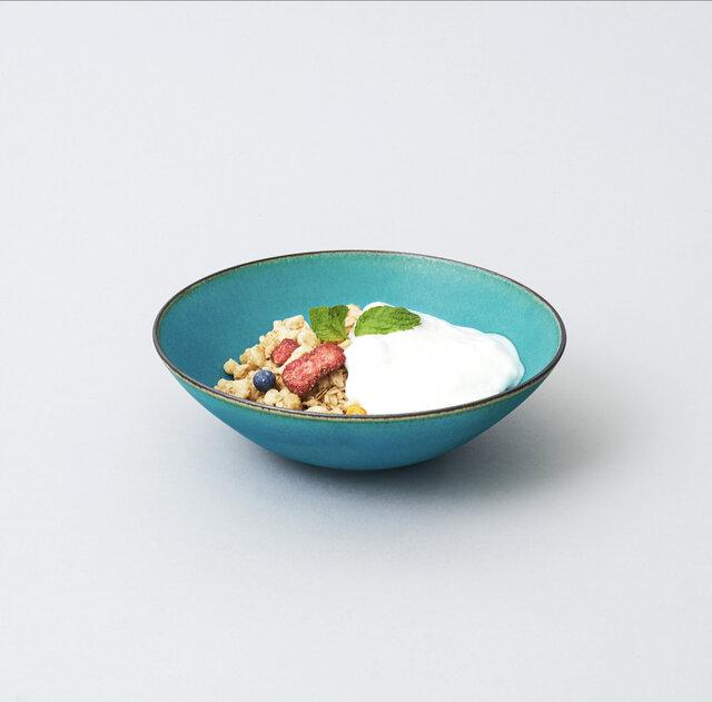 中鉢・取り鉢・サラダボウル 16㎝(ターコイズブルー/トルコ青)の画像1枚目