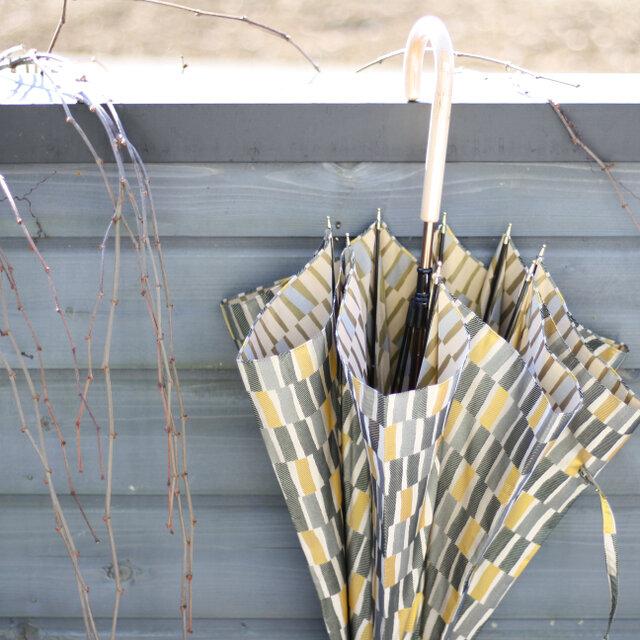 【雨傘】ノルディックジャカード 大枝 カーキの画像1枚目