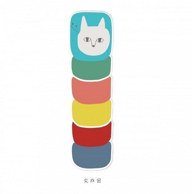 猫落としハガキ【3枚入り 400円】ポストカードの画像1枚目