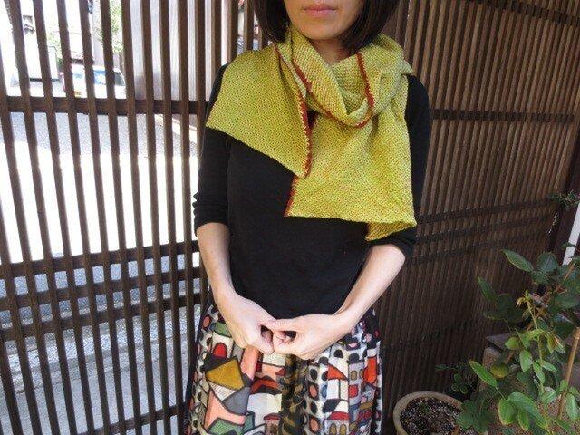 着物リメイク☆お顔が華やぐ絞りのストール幅34㎝の画像1枚目