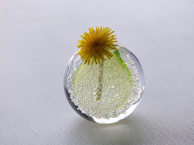 泡の一輪挿(レモンイエロー)の画像1枚目