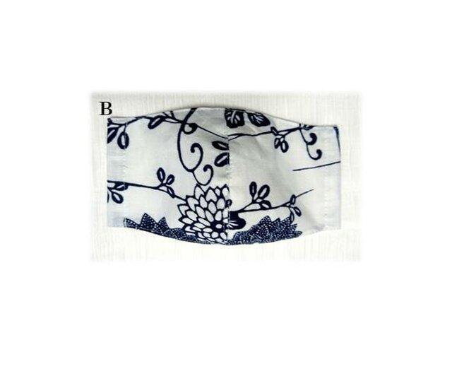 MM18a 浴衣地マスク(Mサイズ・花柄)の画像1枚目