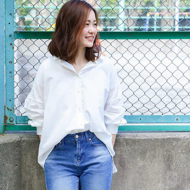 【Women's】ひなたシャツ / Whiteの画像1枚目