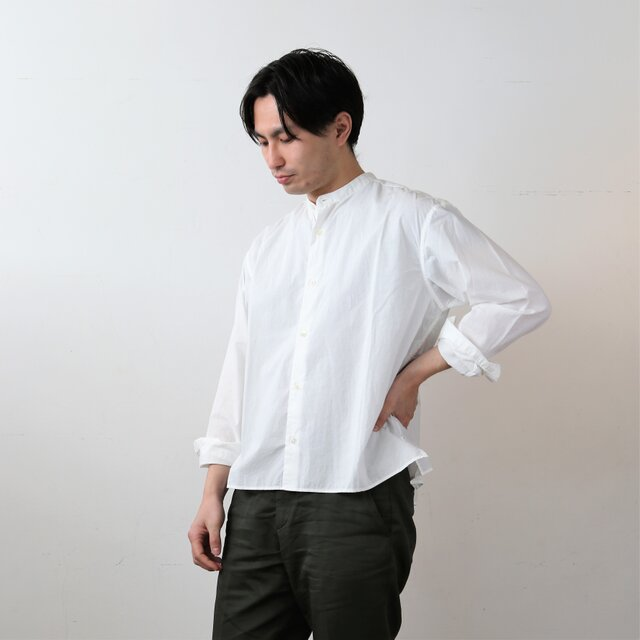 【 Men's 】ひなたシャツスタンド / WHITEの画像1枚目