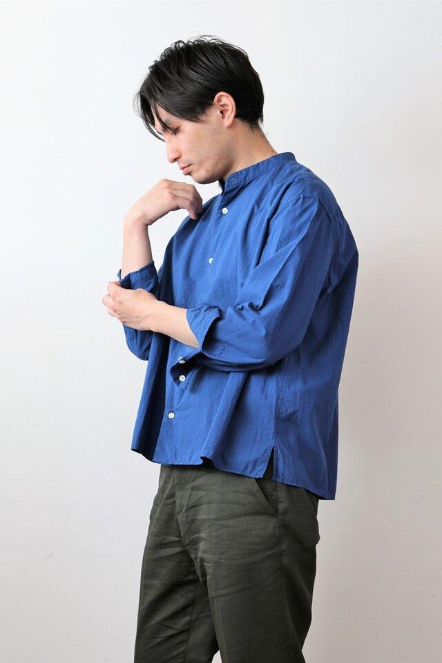 【 Men's 】ひなたシャツスタンド /染め BLUEの画像1枚目