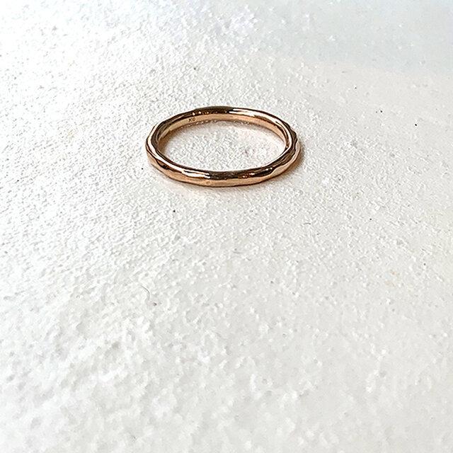 桃色十金細丸棒槌目指輪 rr-116の画像1枚目