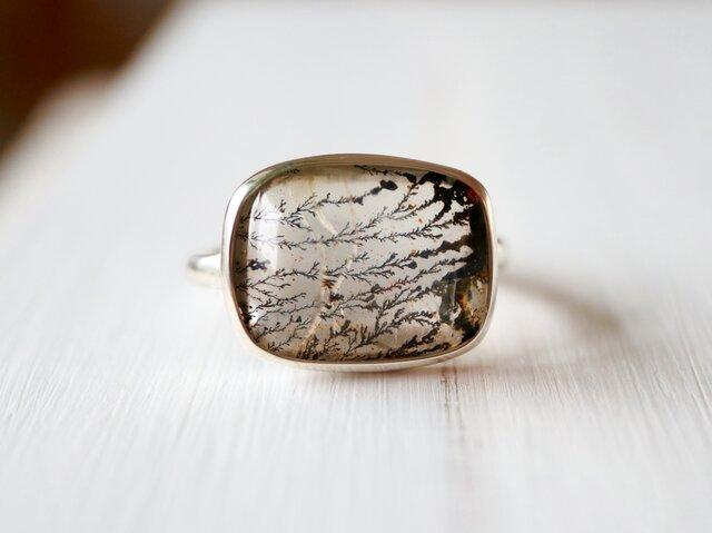 ボタニカルアートのデンドリティッククォーツ ringの画像1枚目