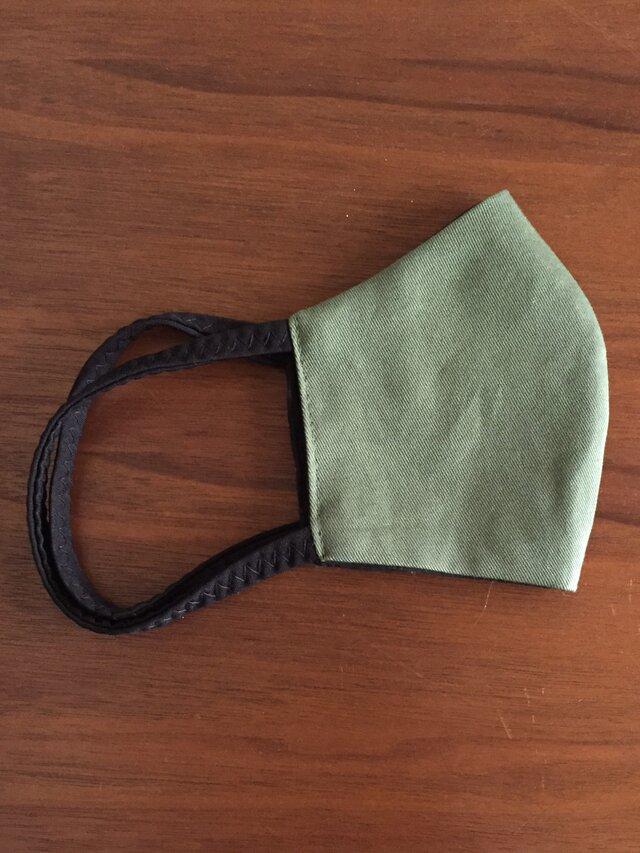 布マスク 男性用グリーンの画像1枚目