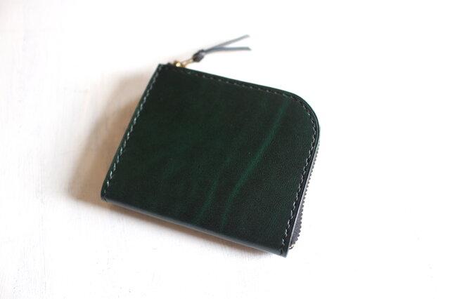 【一点物即納品】L字ファスナー小さい財布 ~ルガトーショルダー×栃木サドルレザー~の画像1枚目