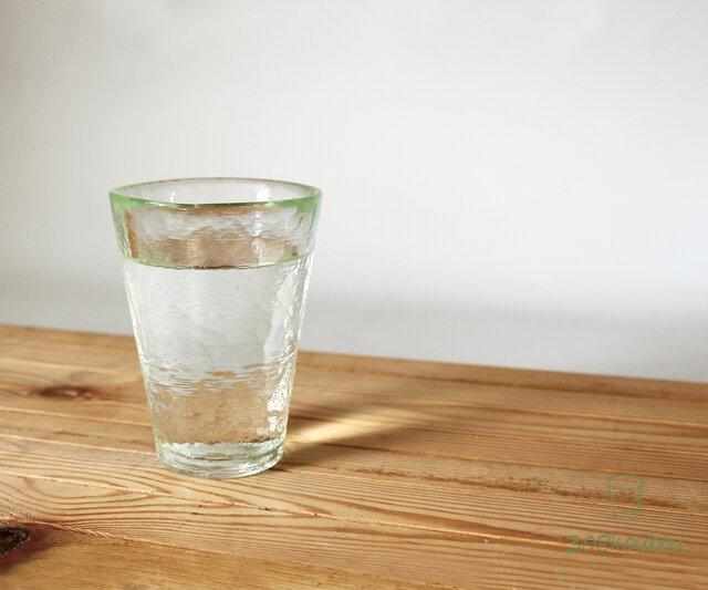 打ち出し模様のシンプルグラス(大)の画像1枚目
