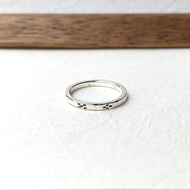 ミンサー柄細指輪 rr-129の画像1枚目