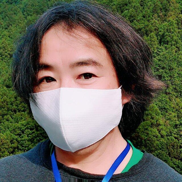 【舞台俳優さんの贅沢メンズサイズマスク】息がしやすいコットン100%ドビーチェックと不織布3重フィルター超立体形状記憶の画像1枚目