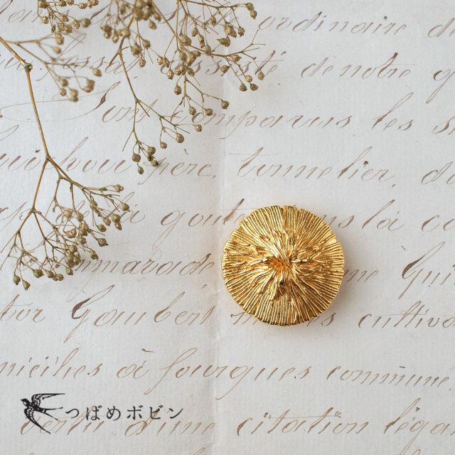 フランス・セミヴィンテージボタンの帯留◎ピオニー【送料無料】の画像1枚目