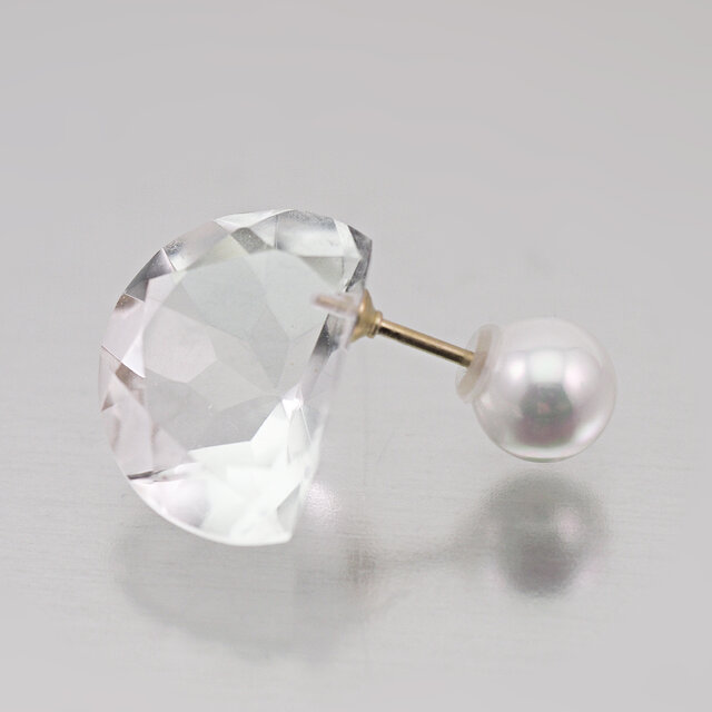 Half moon earring / Singleの画像1枚目