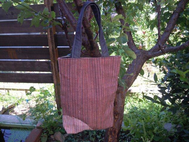 西陣織り トートバッグ(細い縦縞)の画像1枚目
