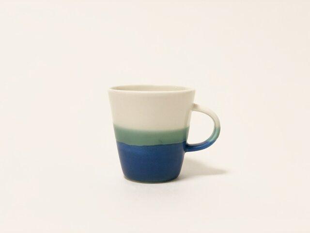 Mug cup S / Transparent × blueの画像1枚目