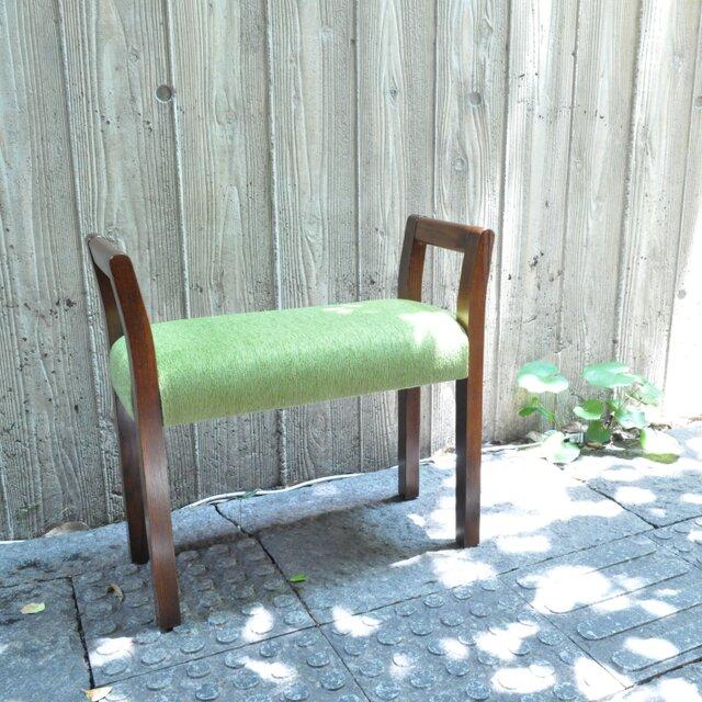 玄関スツール W-arm(ブラウン×グリーン ANシリーズ)の画像1枚目