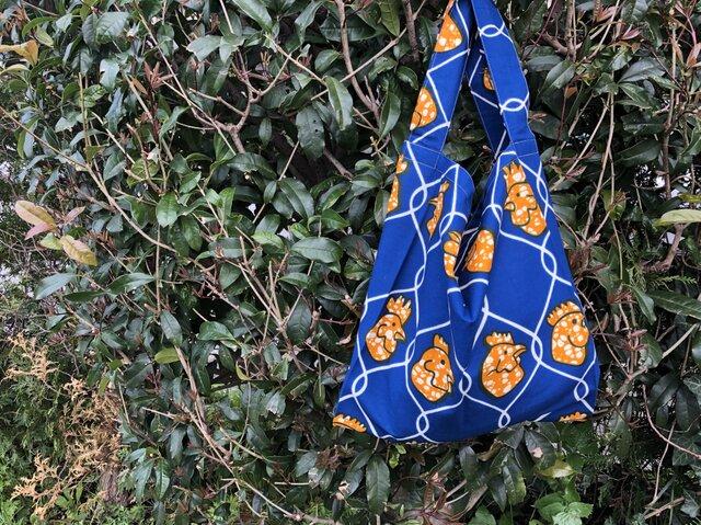 b362-アフリカ布ecoバッグの画像1枚目