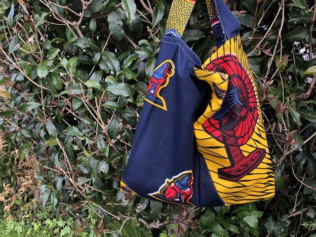 b363-アフリカ布ecoバッグの画像1枚目