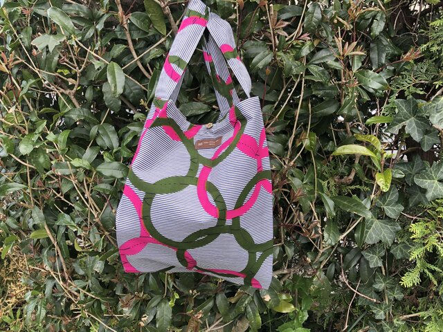 b364-アフリカ布ecoバッグの画像1枚目
