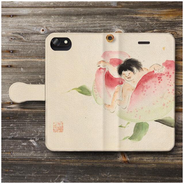 【歌川広重 桃太郎】スマホケース手帳型 全機種対応 iPhone11 iPhoneXRの画像1枚目