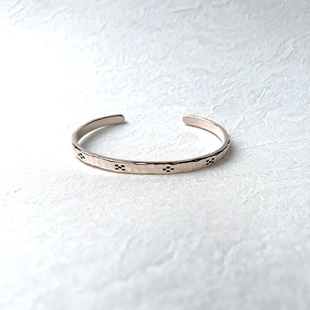 桃色銀ミンサー柄腕輪八柄小 rb-57の画像1枚目