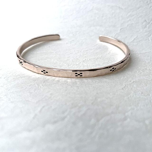 桃色銀ミンサー柄腕輪八柄大 rb-58の画像1枚目