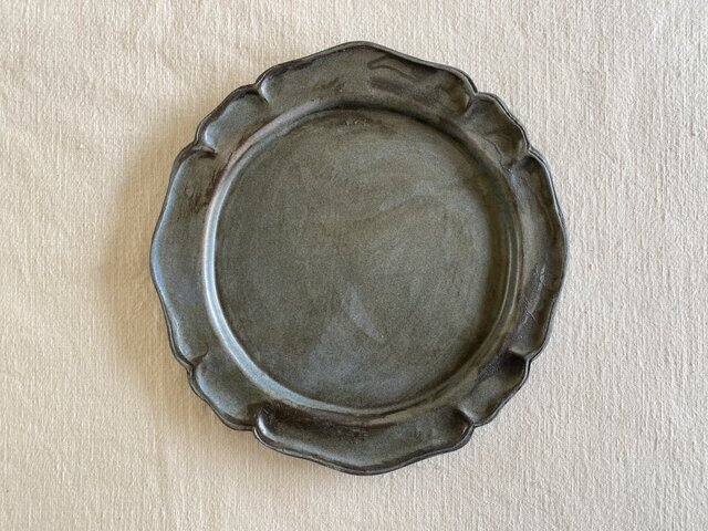 8寸洋皿ブラウニーブルーの画像1枚目