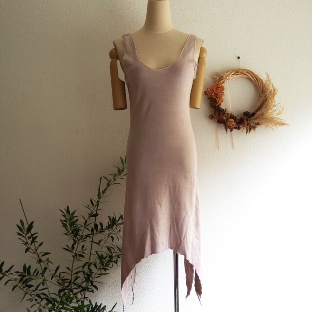 organic Lakshmi dressべんがら色の画像1枚目