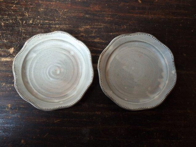 粉引きリム鉢(レース)の画像1枚目