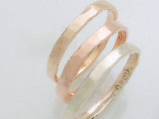 "3ColorGold Ring ""PinkGold【S】""の画像1枚目"