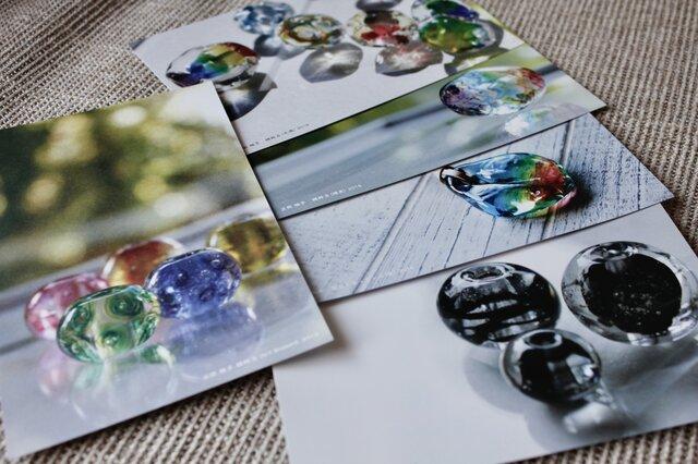 【期間限定】蜻蛉玉作家*正岡雅子 ポストカード 5枚セット/ 送料無料の画像1枚目