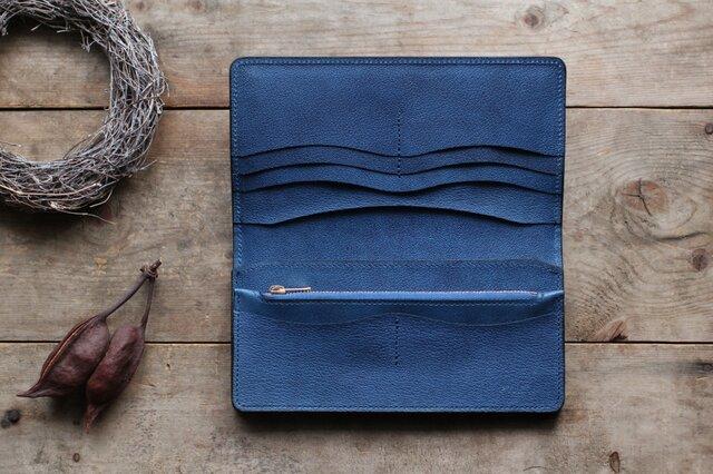 藍染革[shiboai] 長財布の画像1枚目