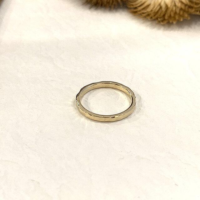 十金槌目細指輪 rr-117の画像1枚目