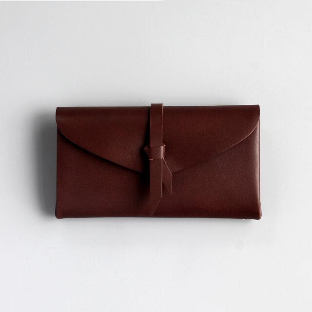 折りロングウォレット マグ#茶 [3ポケットver]の画像1枚目
