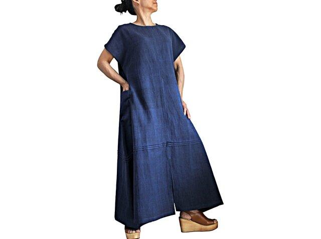 ジョムトン手織り綿寛ぎのドレス(DFS-063-03)の画像1枚目