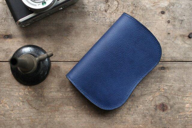 藍染革[shiboai] 二つ折り財布の画像1枚目