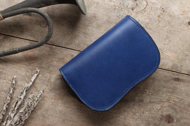 藍染革[migaki] 二つ折り財布の画像1枚目