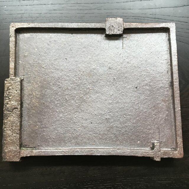 焼締三つ足長角皿の画像1枚目