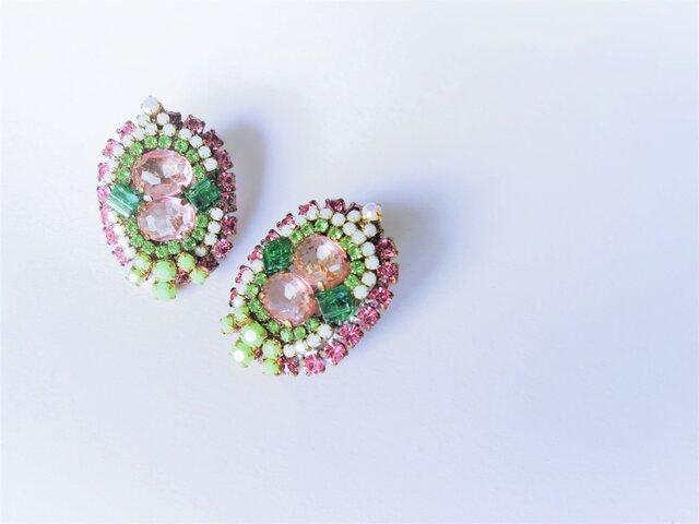 ヴィンテージビジューイヤリング vintage earrings bijou <ER1-0420>の画像1枚目
