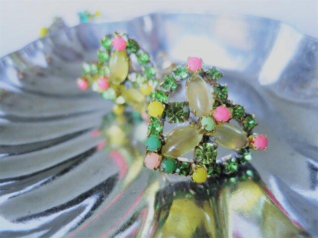 ヴィンテージビジューイヤリング ハート vintage earrings bijou <ER3-0420>の画像1枚目