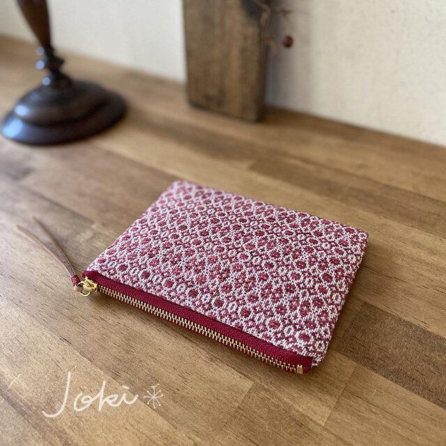 pouch[手織りミニポーチ]レッドの画像1枚目