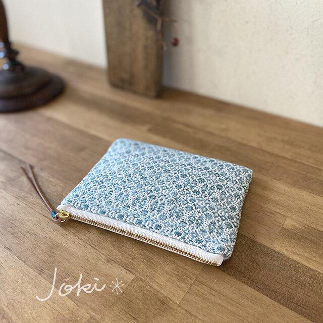 pouch[手織りミニポーチ]エメラルドグリーンの画像1枚目