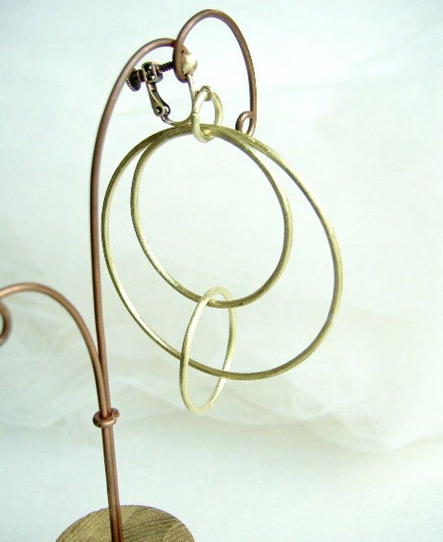 大きな輪のイヤリング・robineae様専用の画像1枚目