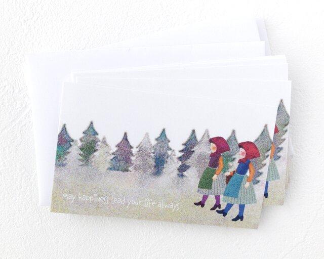 メッセージカードセット(少女たち・5組+1枚)送料無料の画像1枚目